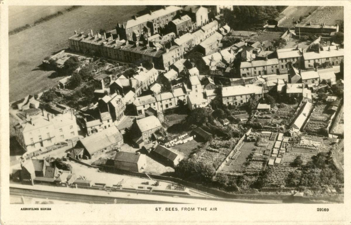 Old aerial village photo