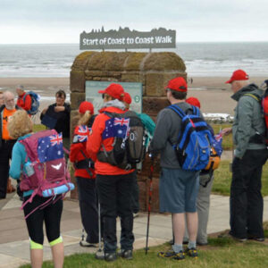 St Bees visitors at c2c start