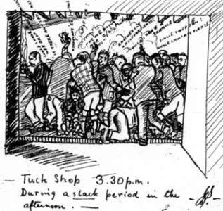 Tuck shop cartoon